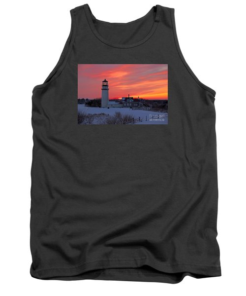 Tank Top featuring the photograph Epic Sunset At Highland Light by Amazing Jules