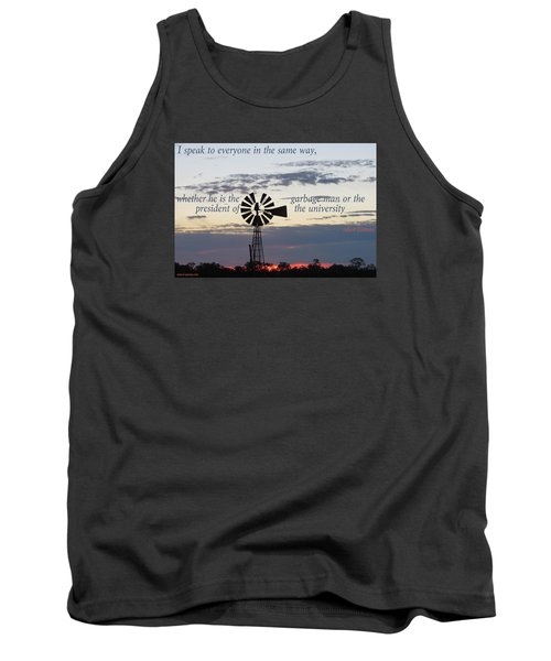 Tank Top featuring the photograph Equal In God's Eye by David Norman