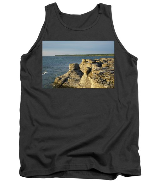 Tank Top featuring the photograph Eroded Cliff Formations by Kennerth and Birgitta Kullman