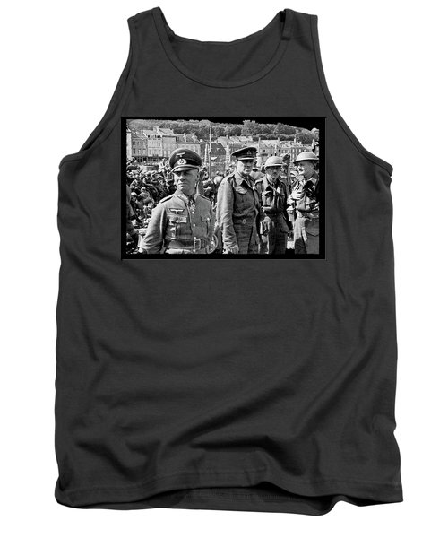 Erwin Rommel And Captured British Soldiers Tobruck Libya 1942 Color Added 2016  Tank Top