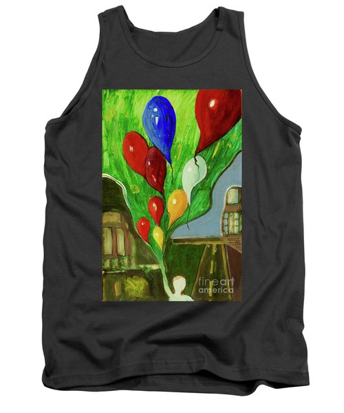 Tank Top featuring the painting Escape by Paul McKey