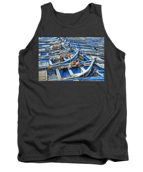 Essaouira Blue Fishing Boats Tank Top