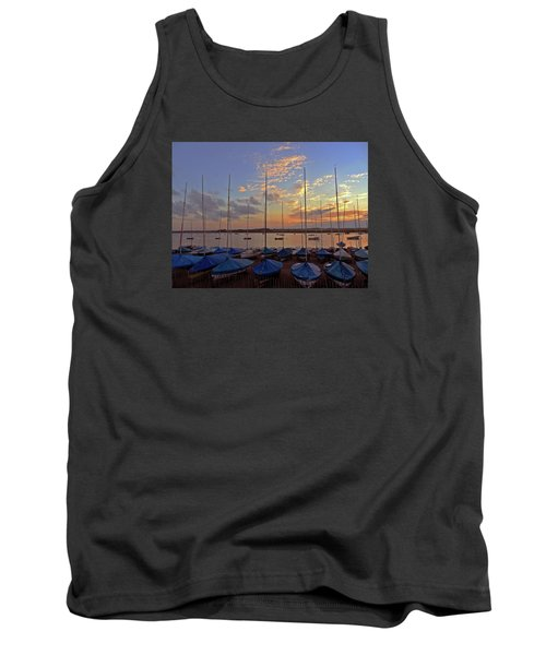 Tank Top featuring the photograph Estuary Evening by Anne Kotan