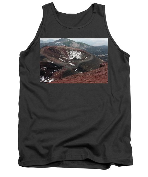 Tank Top featuring the photograph Etna, Red Mount Crater by Bruno Spagnolo