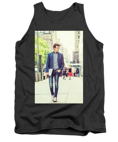 European College Student Studying In New York Tank Top