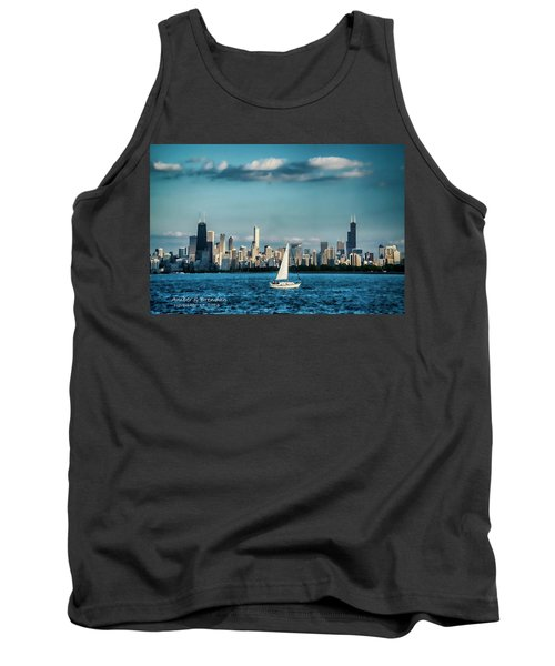 Evan's Chicago Skyline  Tank Top