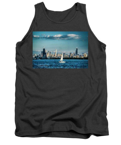 Evan's Chicago Skyline  Tank Top
