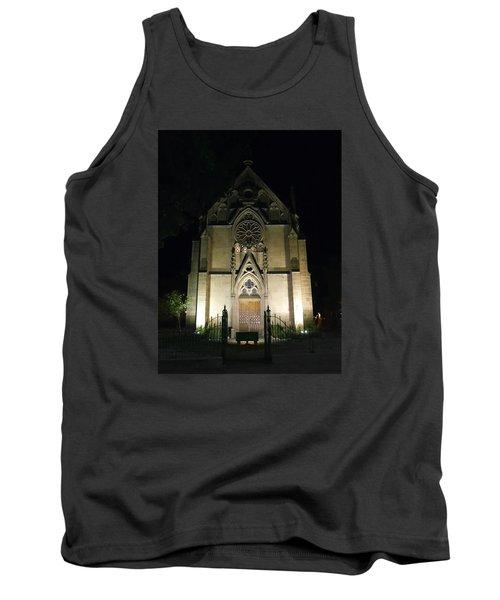 Tank Top featuring the photograph Evening At Loretto Chapel Santa Fe by Kurt Van Wagner