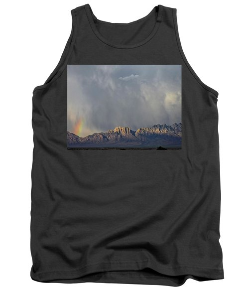Tank Top featuring the photograph Evening Drama Over The Organs by Kurt Van Wagner