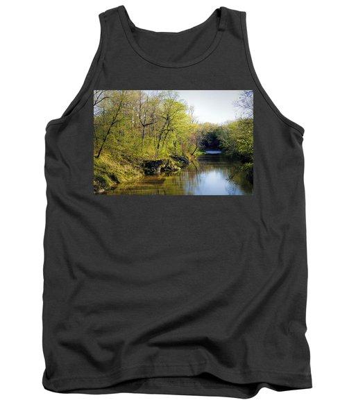 Evening Falls On Cedar Creek Tank Top