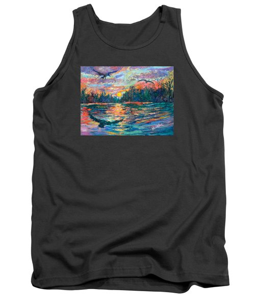 Tank Top featuring the painting Evening Flight by Kendall Kessler