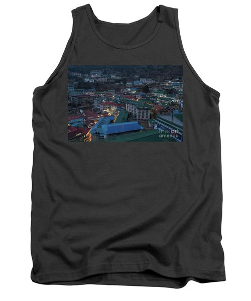 Tank Top featuring the photograph Evening In Namche Nepal by Mike Reid