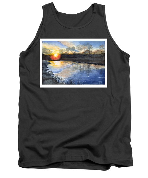 Tank Top featuring the painting Evening by Katherine Miller