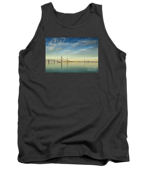 Evening Lights On The Bay Cadiz Spain Tank Top