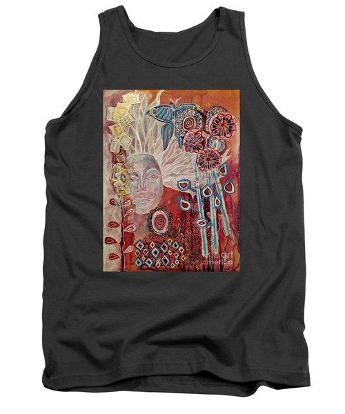 Tank Top featuring the mixed media Evening by Mimulux patricia no No