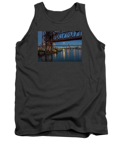 Tank Top featuring the photograph Evening On The Cuyahoga River by Brent Durken