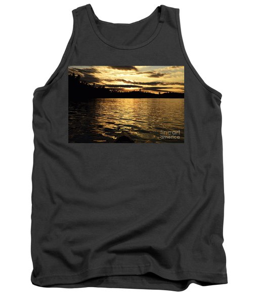 Tank Top featuring the photograph Evening Paddle On Amoeber Lake by Larry Ricker
