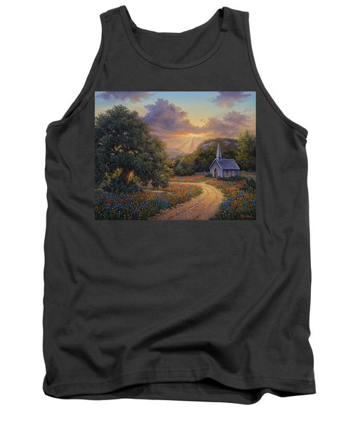 Tank Top featuring the painting Evening Praise by Kyle Wood