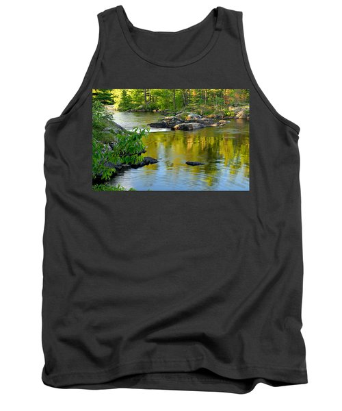 Evening Reflections At Lower Basswood Falls Tank Top