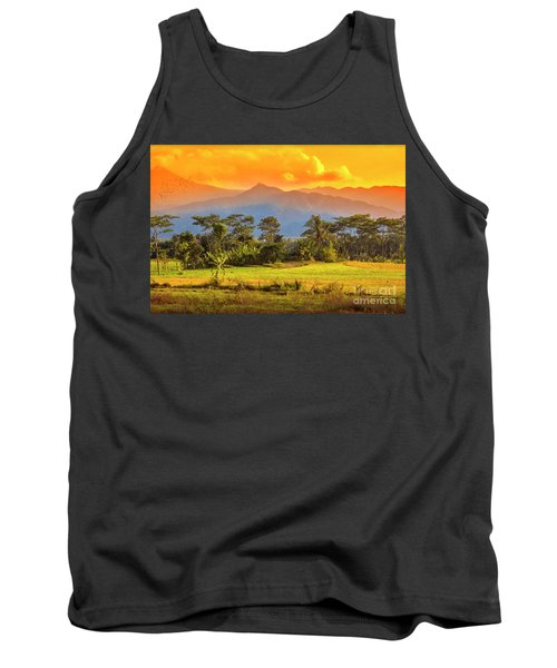 Tank Top featuring the photograph Evening Scene by Charuhas Images
