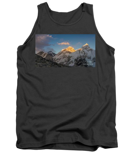 Everest And Lhotse Alpenglow Cloudscape Tank Top