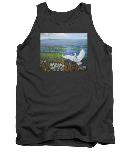 Everglades Egret Tank Top by Anne Marie Brown