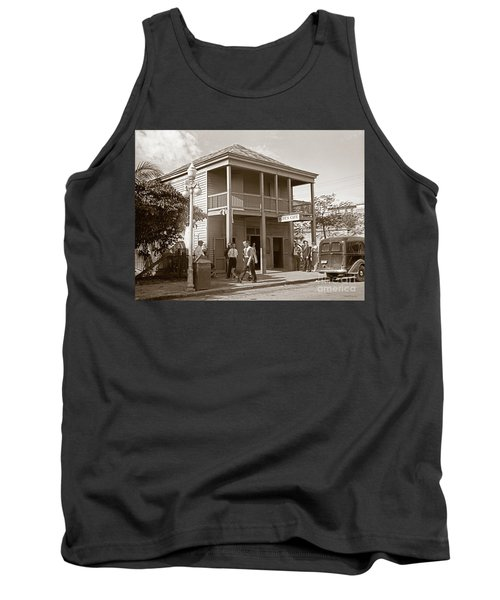 Tank Top featuring the photograph Everyone Says Hi - From Pepes Cafe Key West Florida by John Stephens