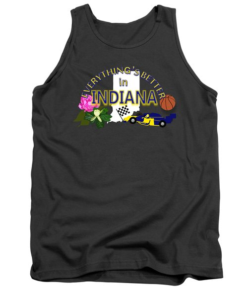 Everything's Better In Indiana Tank Top by Pharris Art