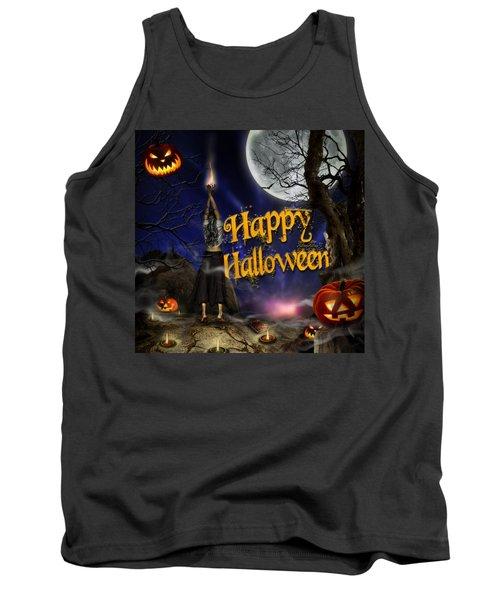Evocation In Halloween Night Greeting Card Tank Top