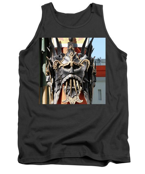 Exotic Chinese Mask Tank Top