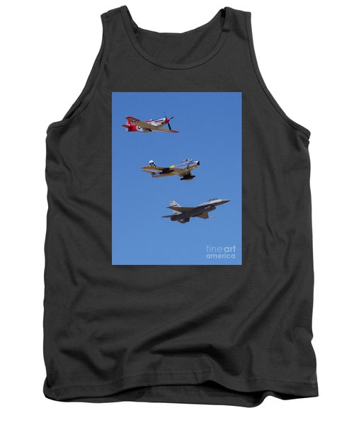 F-16 P-51d F-86 Heritage Flight- Flyby Tank Top