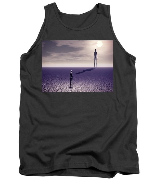 Tank Top featuring the digital art Facing The Future by John Alexander