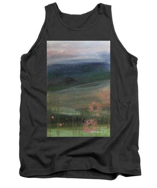 Tank Top featuring the painting Faded Days Gone By by Robin Maria Pedrero