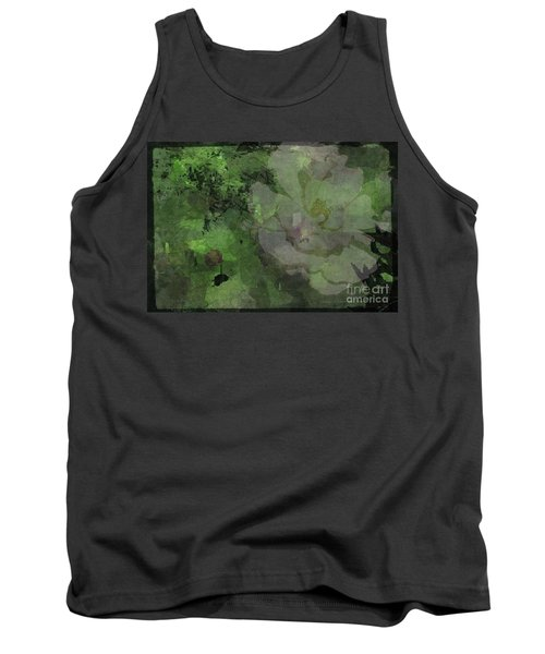 Faded Rose Tank Top by Kathie Chicoine
