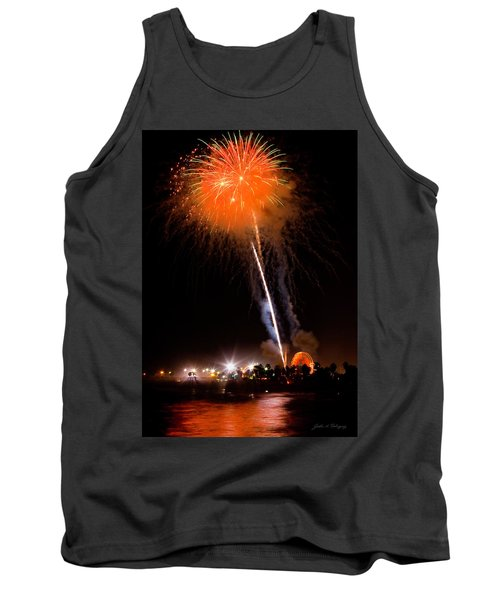 Fireworks As Seen From The Ventura California Pier Tank Top