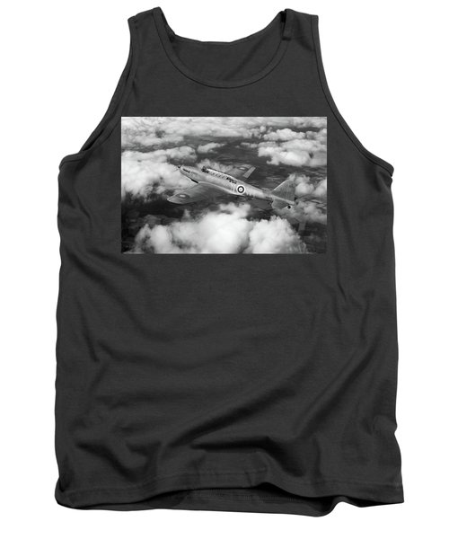 Tank Top featuring the photograph Fairey Battle In Flight Bw Version by Gary Eason