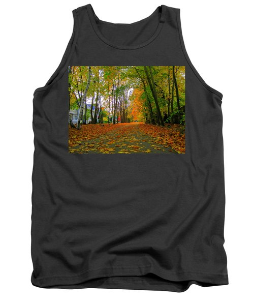Fall Afternoon On The Rail Trail Tank Top
