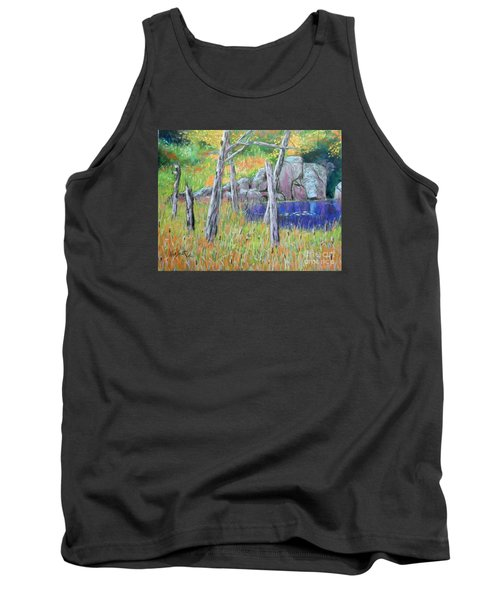Fall  Along The Highwy  Tank Top