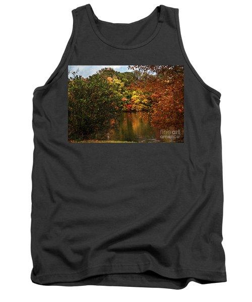 Fall At The Lake Tank Top by Judy Wolinsky