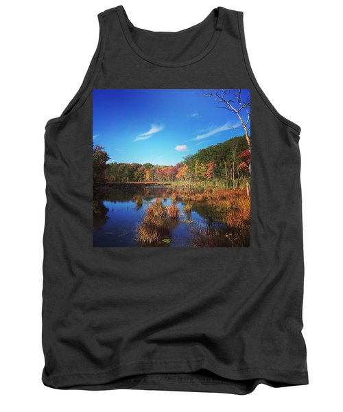 Fall At The Pond Tank Top