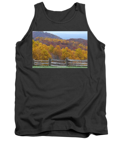 Tank Top featuring the photograph Fall Blend by Eric Liller