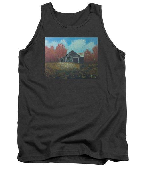 Autumn Barn Tank Top by Brenda Bonfield