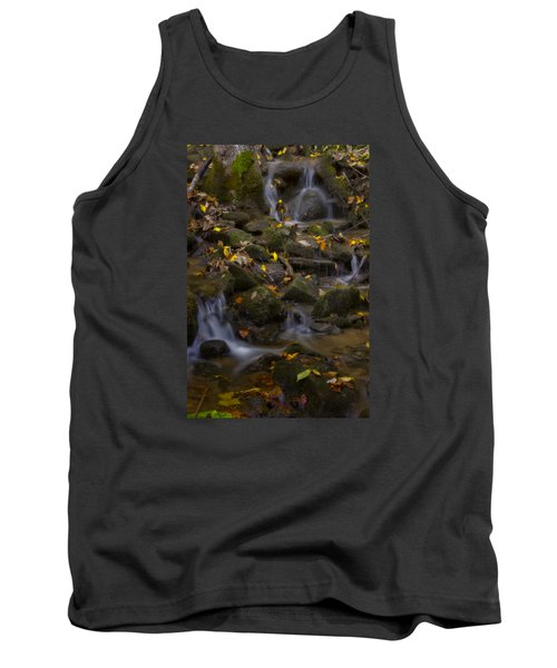 Tank Top featuring the photograph Fall Cascades by Ellen Heaverlo