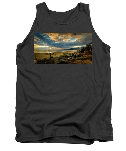 Fall Clouds Over The Bay Tank Top