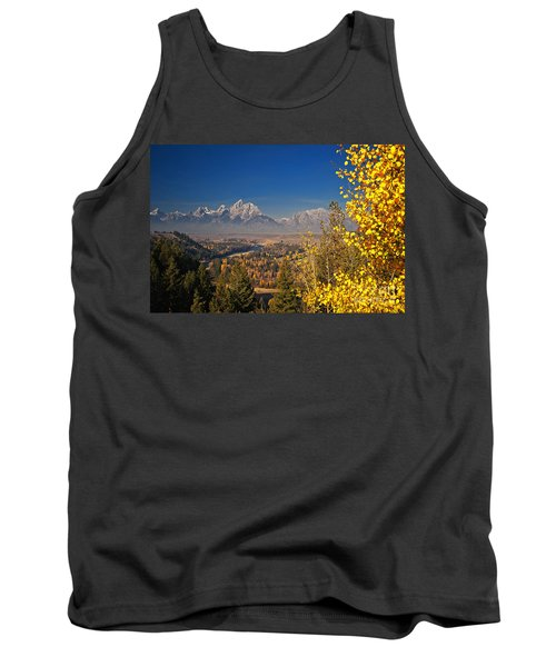 Fall Colors At The Snake River Overlook Tank Top by Sam Antonio Photography