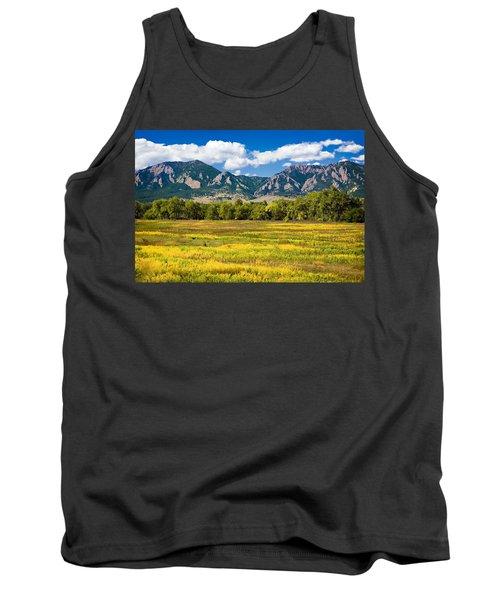 Fall Colors Of Boulder Colorado Tank Top