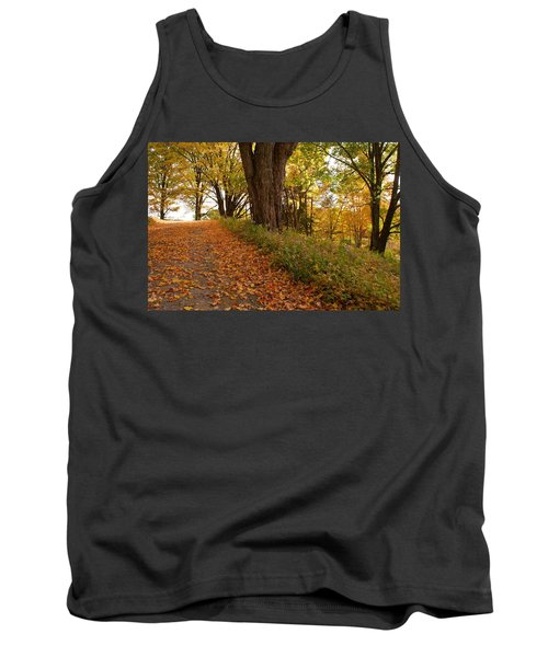 Fall Driveway Tank Top by Lois Lepisto