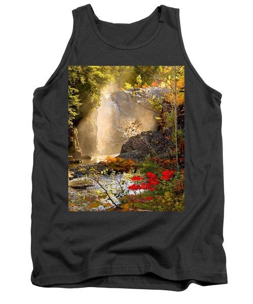 Fall Falls Mist  Dead River Falls  Marquette Mi Tank Top by Michael Bessler