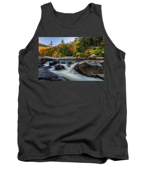 Tank Top featuring the photograph Fall Foliage Along Swift River In White Mountains New Hampshire  by Ranjay Mitra
