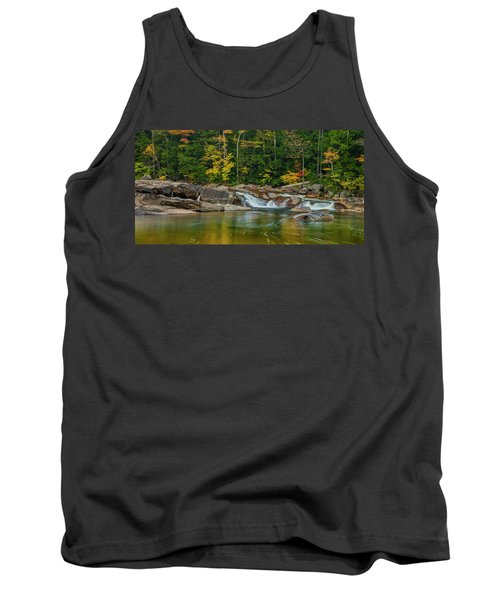 Fall Foliage In Autumn Along Swift River In New Hampshire Tank Top by Ranjay Mitra